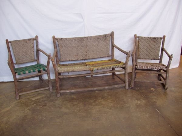 5: 3 pc. Signed Old Hickory Porch Set