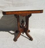 5: Antique Victorian Marble Top Parlor Table