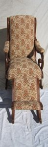 9: Antique Victorian Rocker with a Gout Stool
