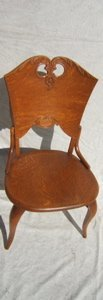 10: Antique 1/4 Sawn Oak Chair with Carving