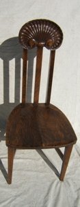 17: Antique 1/4 Sawn Oak Carved Chair