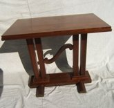 18: Antique Deco Table Walnut Excellent Style