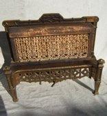 21: Antique Brass Fireplace Insert Signed Ward