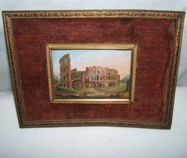 34: Antique Italian Micromosaic Painting.