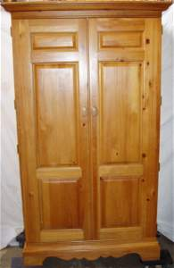 202: Knotty Pine Armoire or Entertainment Center