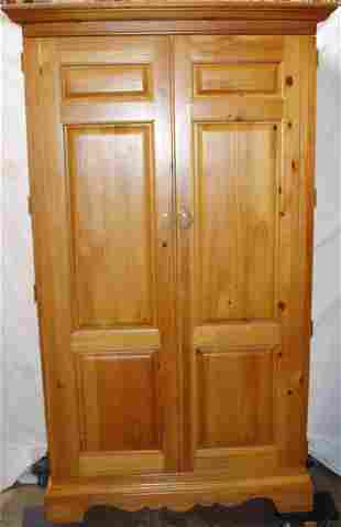 Knotty Pine Armoire or Entertainment Center