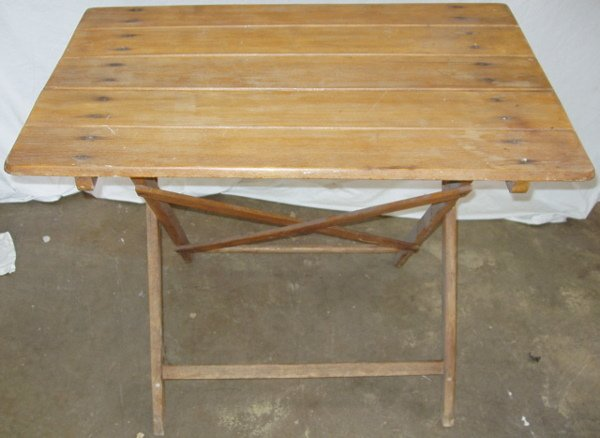 204: German Folding Table Rustic-Primitive