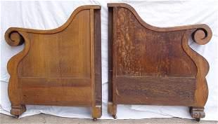 Quarter Sawn Oak Sofa or Loveseat Side Pieces