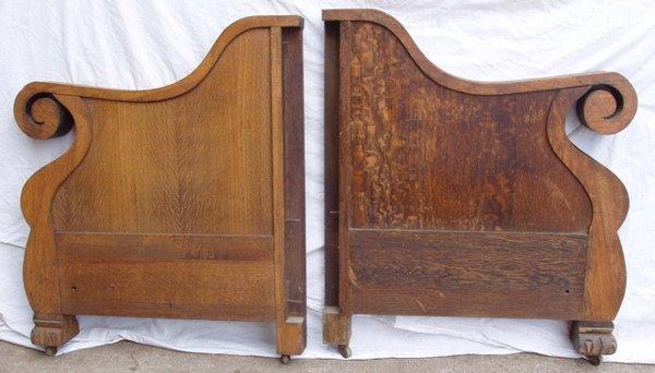 205: Quarter Sawn Oak Sofa or Loveseat Side Pieces