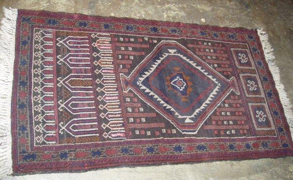 206: Middle Eastern Beluch Rug