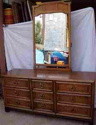 Thomasville Dresser and Mirror Oriental Style