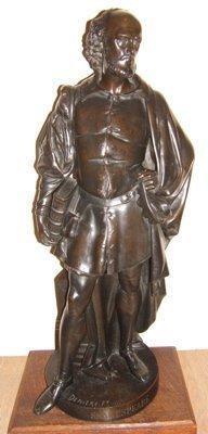 304: Antique Shakespeare Bronze by Albert Carrier-Belle