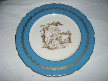 "311: 12 Antique French Dinner Plates ""La Cloche"" Limoge"