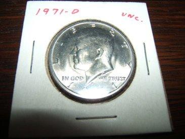 314: 1971 D UNC Half Dollar