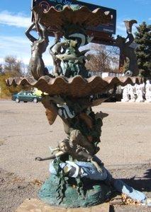 317: Contemporary Bronze Founatin Mermaids & Fish