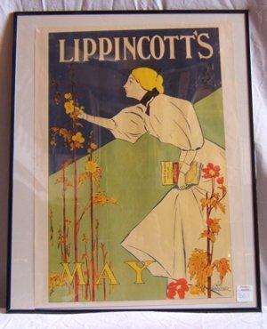 318: Lippincott's Framed Poster