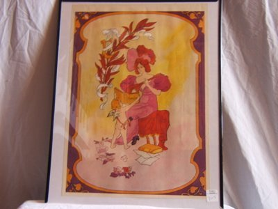 322: Woman Playing an Instrument Framed Poster