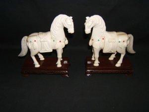 400: Asian Ivory Horses/Precious Stones