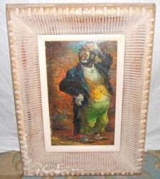 16: Clown Scene Oil Painting by Iver Rose
