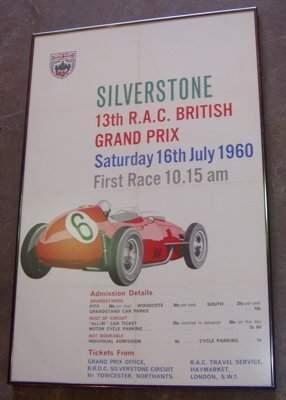 Silverstone 13th R.A.C. British Grand Prix Poster