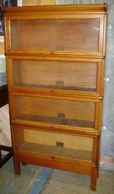 501: Golden Oak Lawyer Stacking Bookcase Cabinet