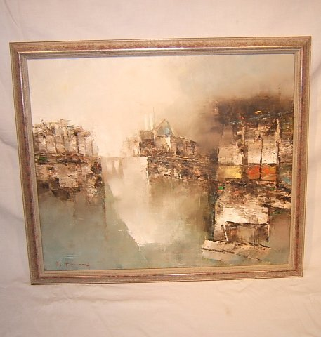 """6: Contemporary Painting, French, """"Notre Dame Cathedral"""