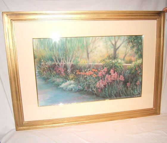 "8: Painting by Jac Kephart, ""Artist's Yard"", Pastel"