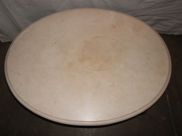 14: Antique Victorian Marble Top Coffee Table - 5