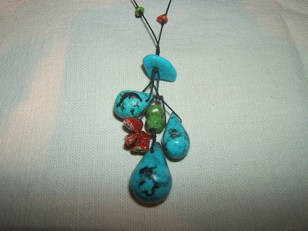 24: Coral and Turquoise Necklace