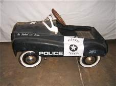 52: Antique Toy Police Pedal Car with Gearbox