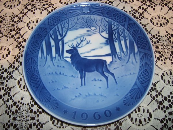 209: Royal Copenhagen Plate, The Stag