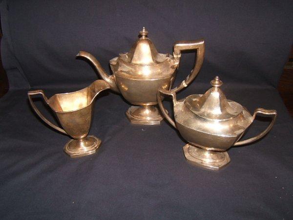 284: Antique Sterling Silver 3 Piece Tea Set