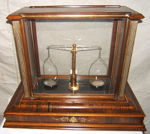 6: Rare Antique Victorian Style Rosewood Gold Scale