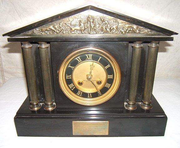 8: Antique Mantel Clock Crichton & Bruce Edinburgh Bron