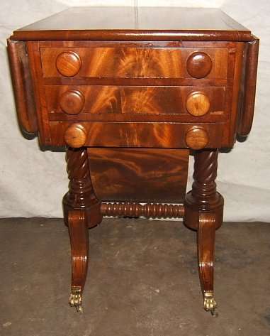 10: Antique Regency Style Mahogany Sewing Stand