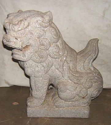 12: Antique Asian Stone Foo Lion