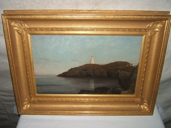 15: Antique Painting by Joseph Lyman Grand Menon Light