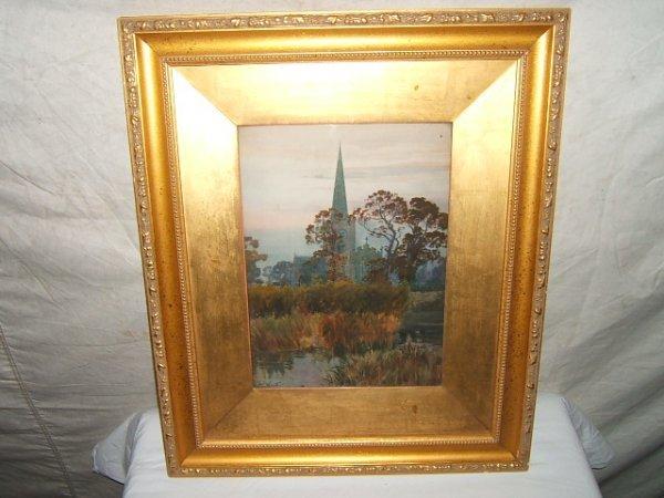 16: Antique Painting A. C. Wyatt, England