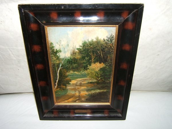 18: Antique Painting by Proff. H.A. Scheers Holland