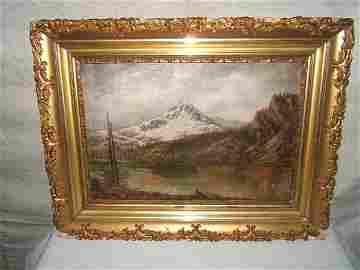 23: Antique Painting by G.M. Ottinger, Brighton, UT