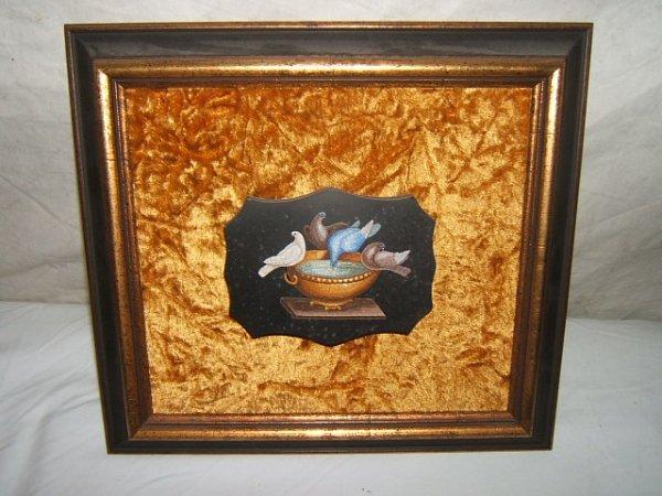 82: Antique Italian Micro Mosaic Plaque