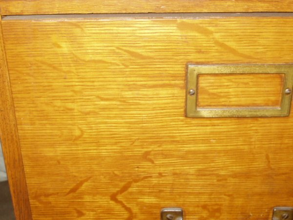 181: Antique Weis 4 Drawer Oak File Cabinet - 3