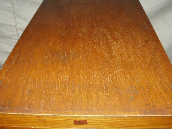 181: Antique Weis 4 Drawer Oak File Cabinet - 6