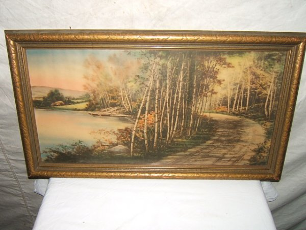 8: Antique Painting of Forest Scene