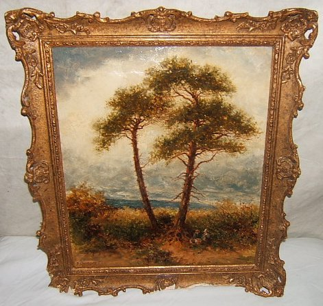 10: Antique Painting by P. Ambrose