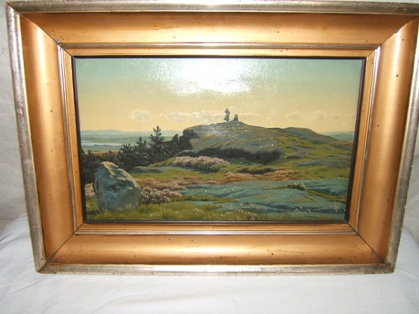 14: Antique Danish Painting by Henrick Gamst Jespersen