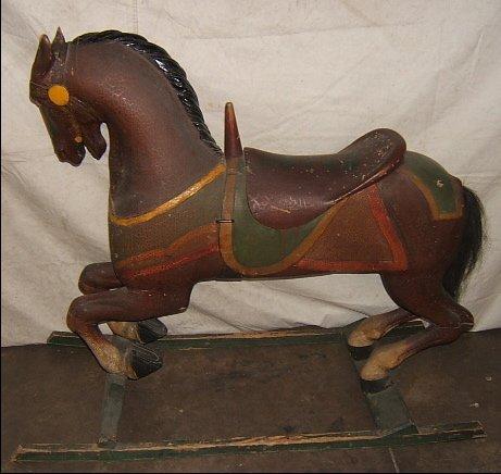 17: Antique Carousel Horse Stein & Goldstein