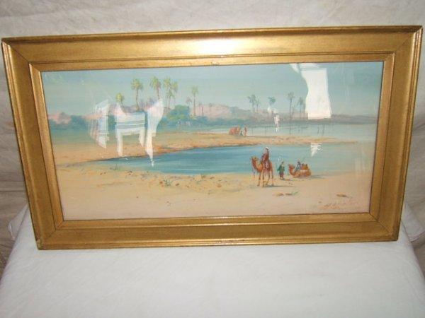 18: Painting British Arab Ruins H.A. Linton