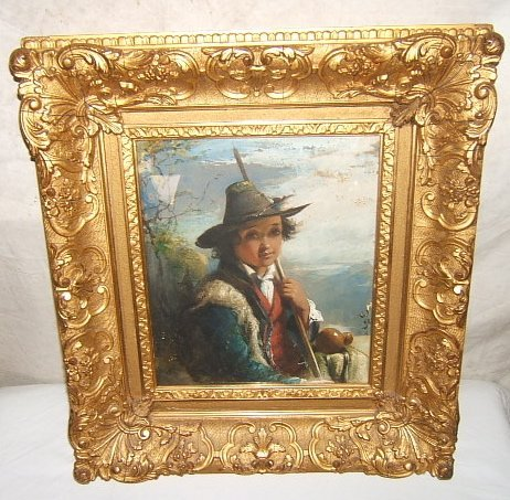 20: Antique European Painting of Young Man