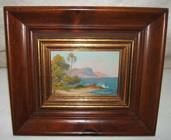22: Antique Painting Tropical Seascape